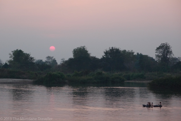 Sunset view of the 4000 islands, Mekong river, Don Det, Laos
