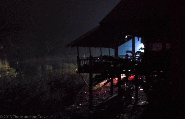 After the sunset in the cabana, Don Det, 4000 islands, Laos
