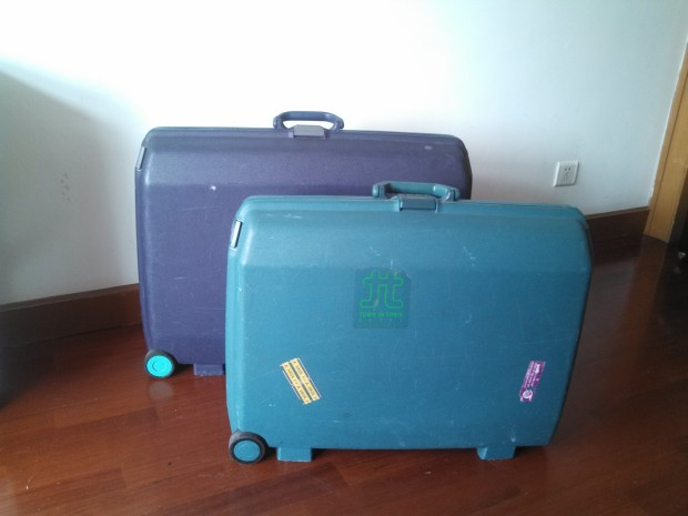 Two classic vertical trolley from Samsonsite, 80ies hardcase model