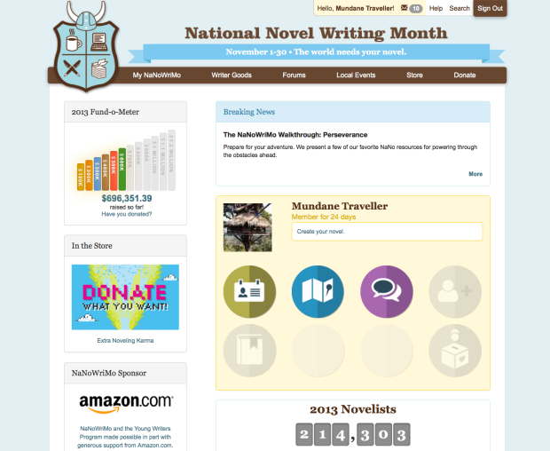 The National Novel Writing Month Website
