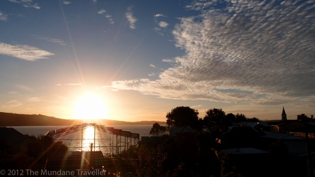Sunset in the Lake District of Chile - Ancud
