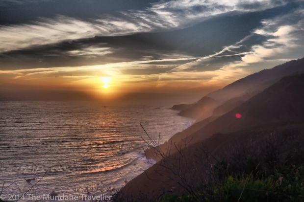Sunset on Highway One. Olympus OMD EM-1, 12-40 / 2.8 (Dramatic Filter)